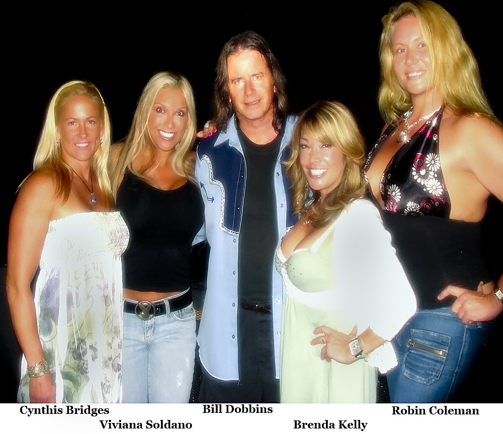 Bill Dobbins' photographic models attend his performance at The Gig in Hollywood.